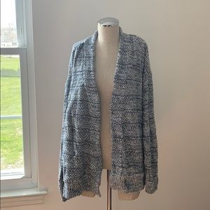 Chaps Blue and White Cardigan XXL